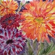 Dahlias by Jenny Thompson