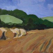Hay Bales 1 by Peter Hepburn