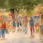 Prayssac Market by Dinah Kane